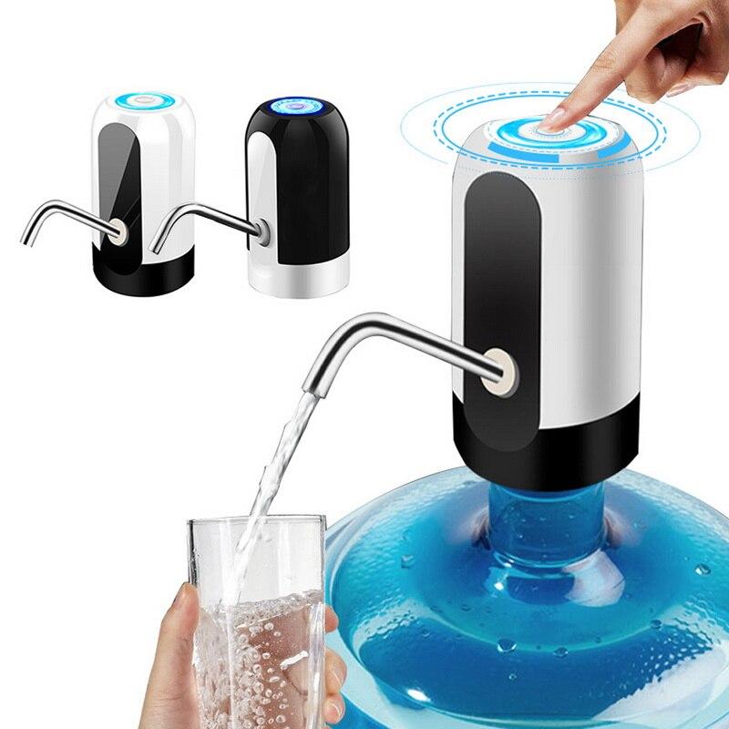 Dispensador de agua eléctrico con carga USB, garrafa portátil con botón, bomba de agua inalámbrica inteligente Aparatos de tratamiento del agua