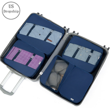 High Quality 5Pcs/set Travel Packing Cube Bag Organizer Clothe Mesh Storage Bag Underwear Pouch Wash Bags Travel Accessories creative travel underwear packing organizer storage pouch deep blue