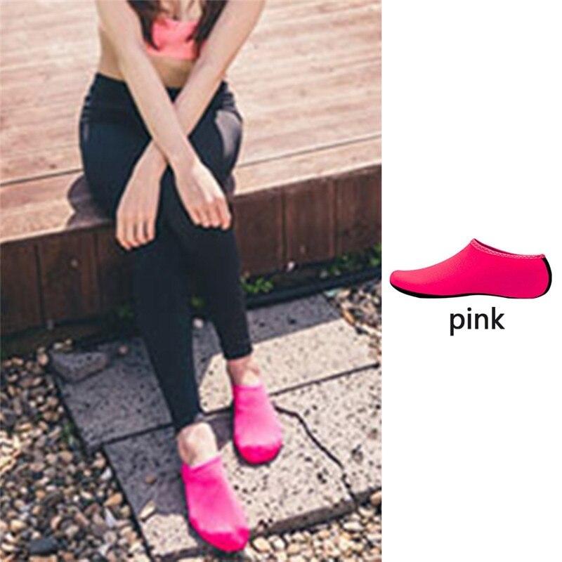Водонепроницаемая обувь; обувь для плавания для мужчин и женщин; пляжная обувь для кемпинга; обувь для йоги; складная обувь унисекс для взрослых; мягкие Прогулочные кроссовки на плоской подошве; Новинка - Цвет: pink
