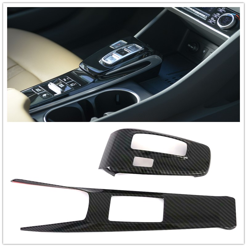 Left Hand Drive! Car Styling Interior Console Gear Shifter Panel Frame Cover Trim 2pcs For Hyundai Sonata DN8 2020