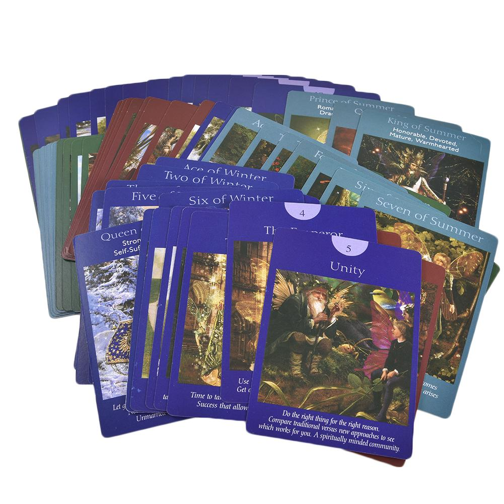Fairy Tarot Cards: A 78-Card Deck And Guidebook New Cards Book Parent-child Interactive Game