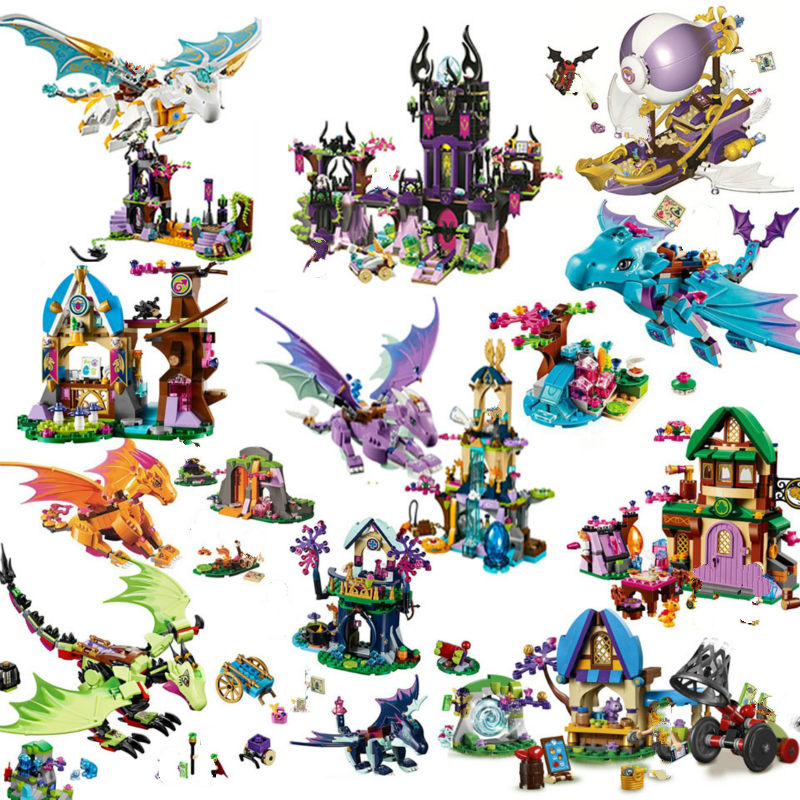 Elves 10549 Elves Dragon Sanctuary Building Bricks Blocks DIY Educational Toys Compatible with Lepining Friend 41178 Friends image