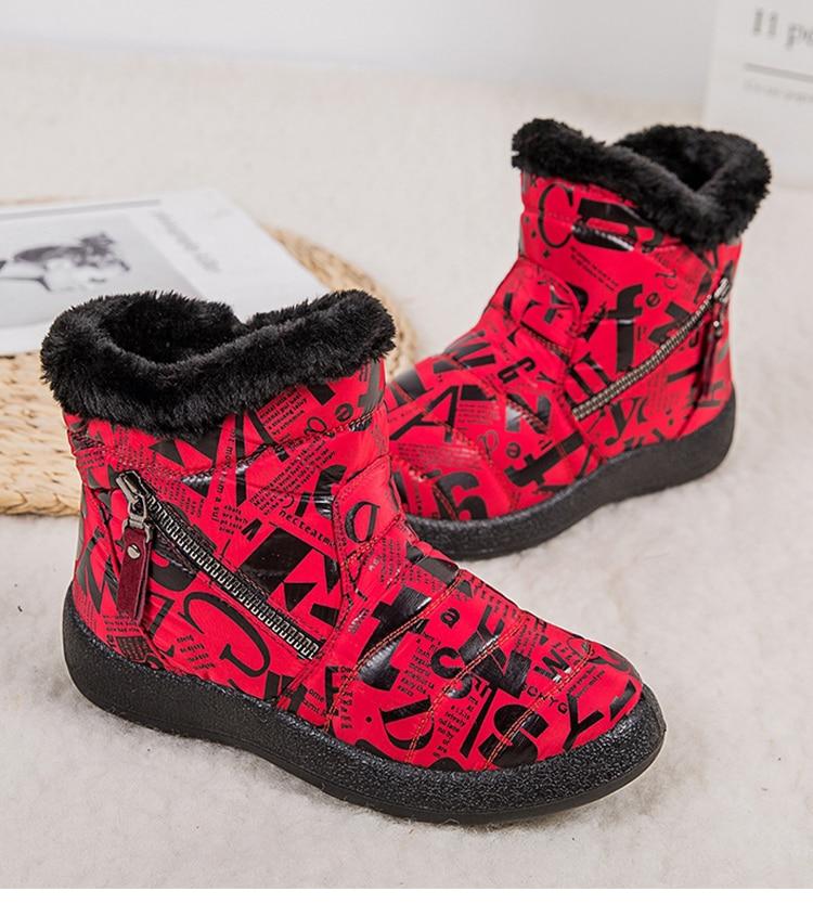 Bottes de neige imperméables à la cheville pour femme