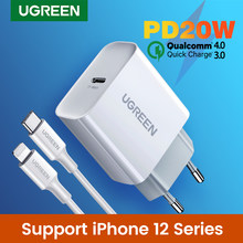 Ugreen Quick Charge 4.0 3.0 QC PD Charger 20W QC4.0 QC3.0 USB tipo C caricabatterie rapido per iPhone 12 X Xs 8 Xiaomi Phone PD Charger