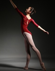Image 5 - Women Ballet Leotard High Quality Medium Sleeve Lace Ballet Dancing Costume Adult Ballet Jumpsuit Gymnastics Dance Leotards