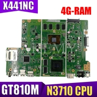 X441NC Motherboard Mainboard For ASUS X441N X441NC Motherboard Test OK N3710 CPU 4GB-RAM GT810M