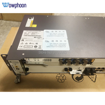 Free ship by DHL Huawei 8ports GPBD MA5608T Opitcal Line Terminal OLT Device with 10GE MCUD1 Uplink AC MPWD EPON GPON OLT 1