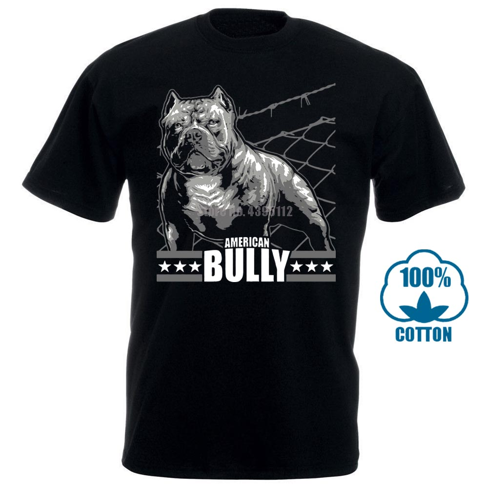 <font><b>T</b></font> <font><b>Shirt</b></font> American Bully Machine Bulldog Bullies Grobe S <font><b>8Xl</b></font> Hunde Dogs Rasse 100% Cotton Short Sleeve O Neck Tops Tee <font><b>Shirts</b></font> image