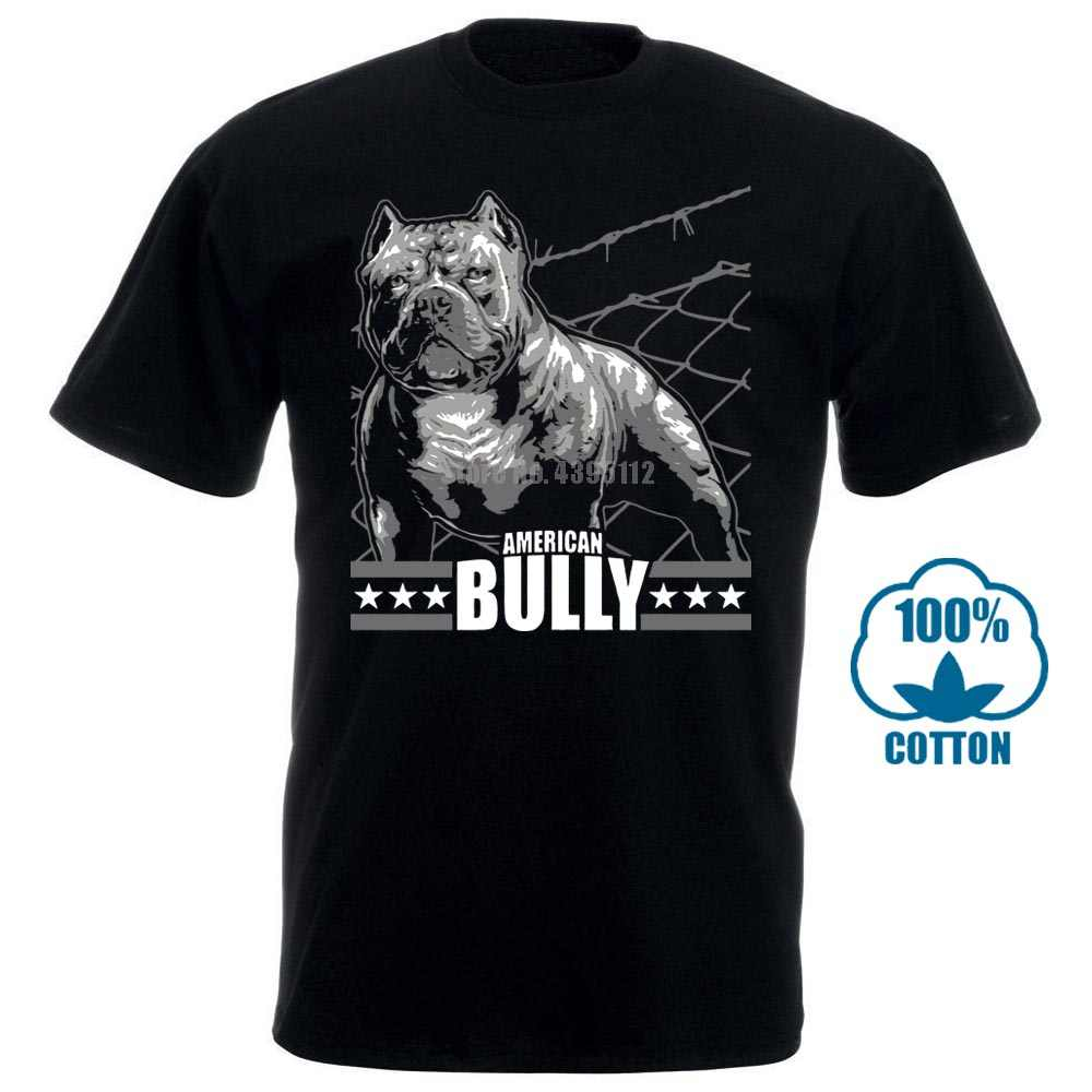 T Hemd Amerikanischen Bully Maschine Bulldog Bullies Grobe S 8Xl Hunde Hunde Rasse 100% Baumwolle Kurzarm O Neck Tops t Shirts