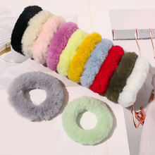 New Fluffy Faux Fur Scrunchie Elastic Hair Ring Rope Round plush Hair ties Rope for Women Girls Fluffy Scrunchy Hair Accessories