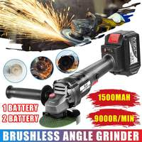 328TV Brushless Electric Angle Grinder Cordless Polishing Grinder Power Tool Rechargeable for Metal Stone Wood Cutting