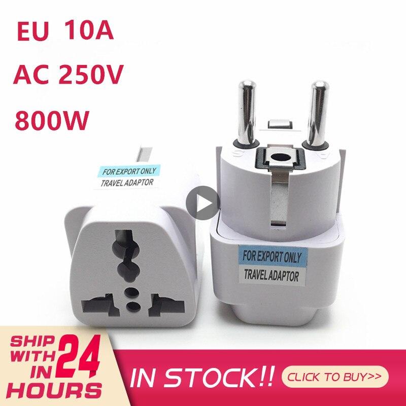 1 шт. AC 250V 10A штепсельная вилка европейского стандарта ЕС Мощность преобразования в европейском стиле Мощность Подключите конвертер разъем ...