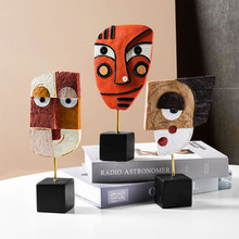 Modern Resin Face Statue Sculpture Creative Abstract Sculpture nordic decoration home Resin Art Figurines Office Desk Decoration