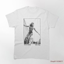 Miley tshirt verão legal moda t camisa masculina casual camiseta masculina de manga curta streetwear topos t