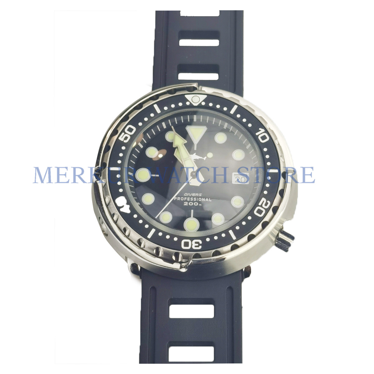 Sharkey Diver Watch Automatic Marine Master Mens Tuna Can image