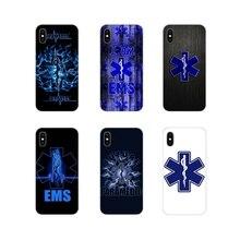 Ambulancia Hospital estrella de la vida teléfono móvil funda de piel para Apple iPhone X XR XS MAX 4 4S 5 5S 5C SE 6 6S 7 7 Plus ipod touch 5 6