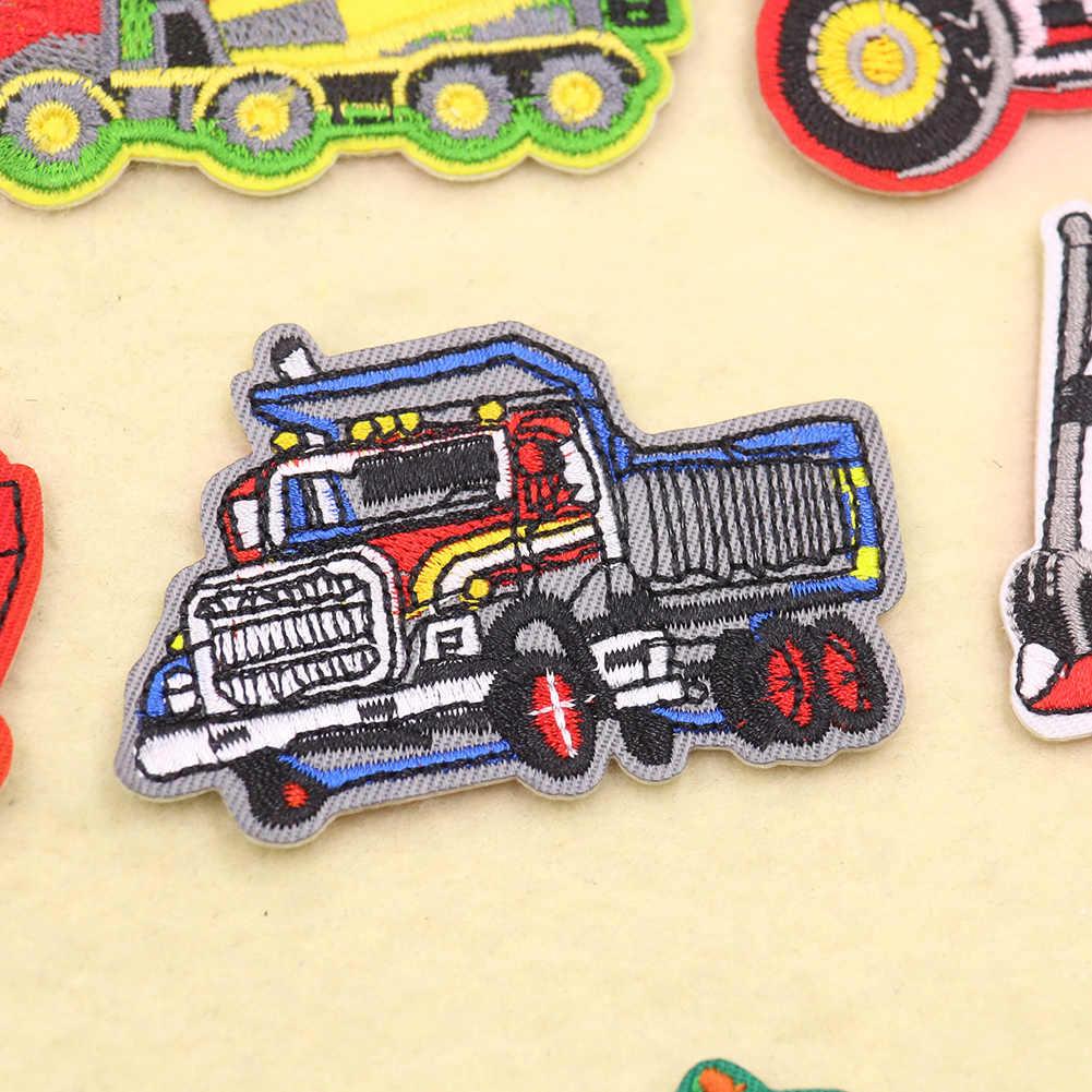 Lot 2 Cartoon Car Go Kart embroidery applique patch