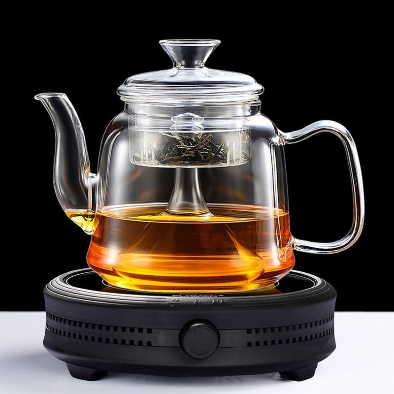 large capacity glass tea pot Boil tea ware glass Steaming teapot gas stove uses glass pot