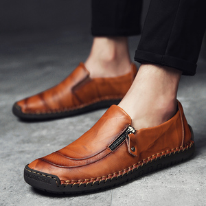 Image 2 - Nowe ręcznie robione męskie skórzane buty oddychające buty na co dzień mężczyźni antypoślizgowe mokasyny jazdy obuwie Chaussure Homme Cuir Plus Size38 48