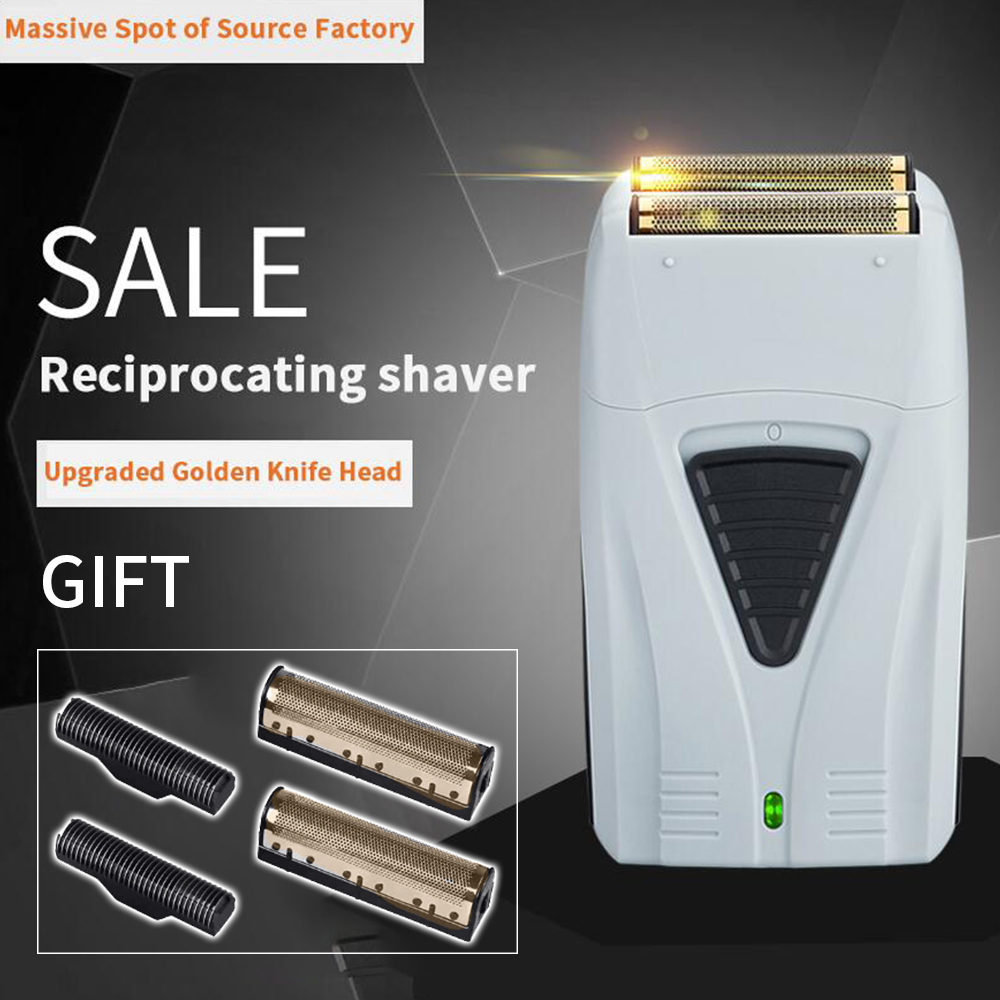 Electric Shaver For Men Twin Blade Professional Reciprocating Cordless Razor USB Rechargeable Shaving Machine Barber Trimmer