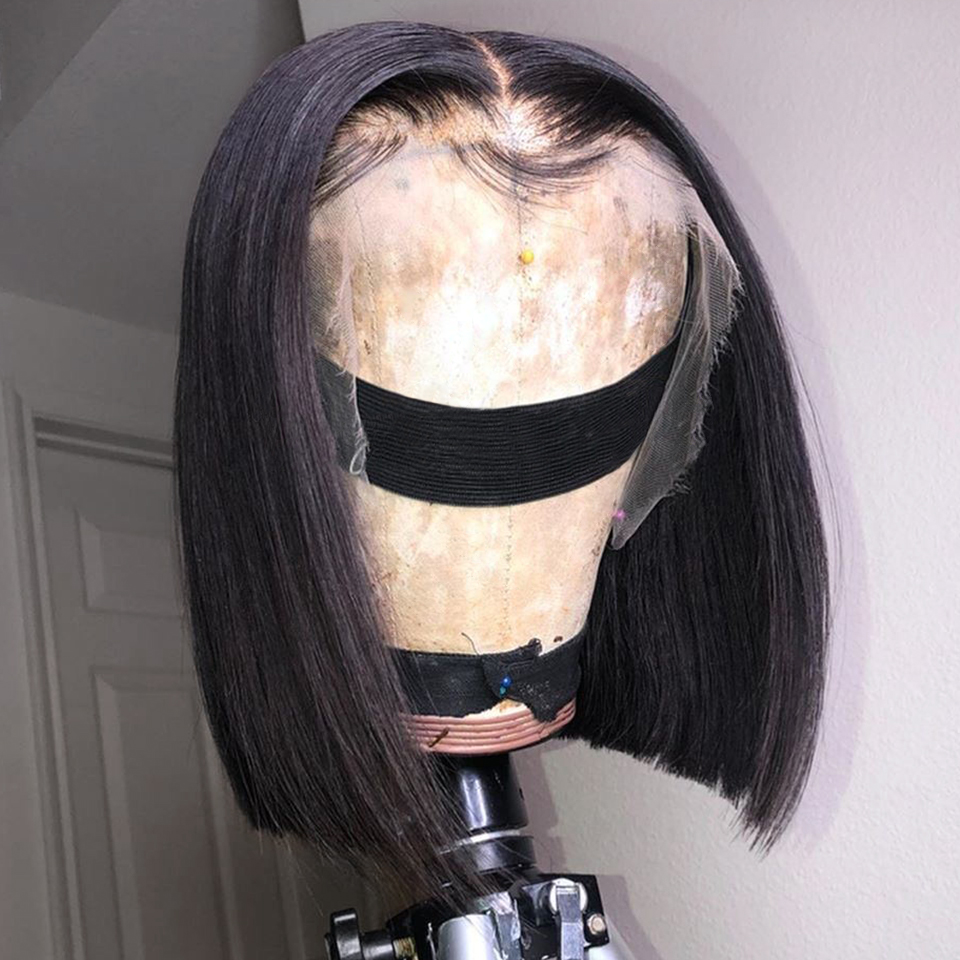 150-Lace-Front-Human-Hair-Wigs-Straight-Short-Bob-Wig-For-Women-Natural-Black-Remy-Brazilian (3)