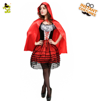 Woman Red Minimum Costume Cosplay Costume Adult Halloween Costume Party Party Dress Female Female Sexy Cloak Red Riding Dress