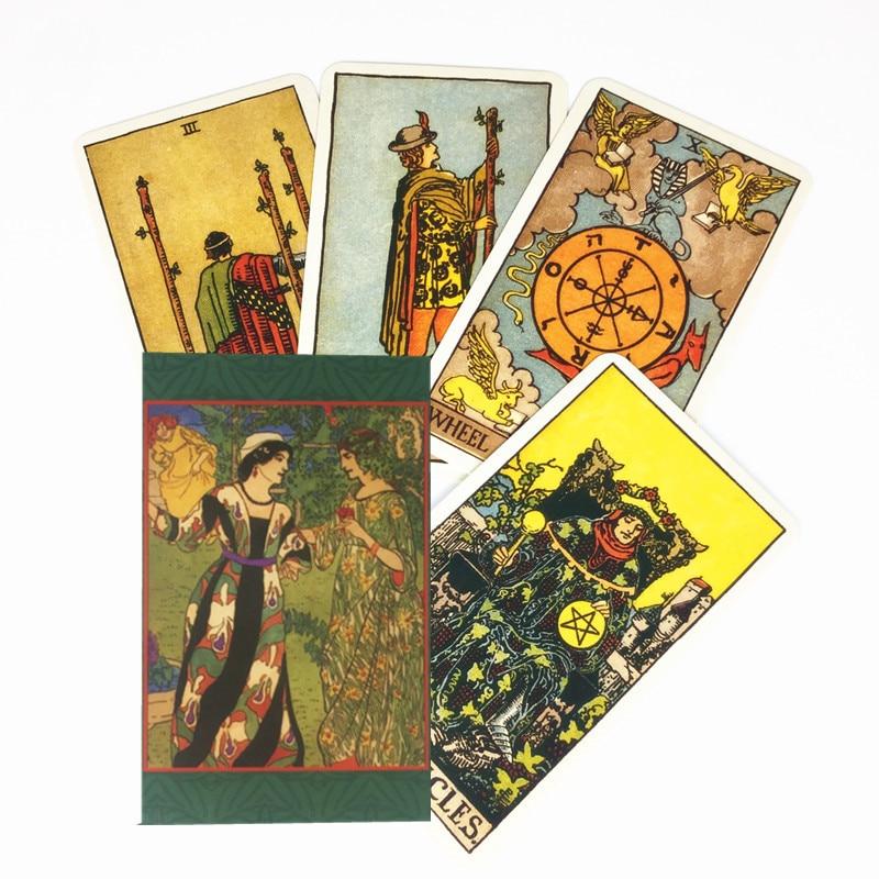 Полный английский лучистый Райдер Таро карты завод сделал высокое качество таро палуба настольная игра карты