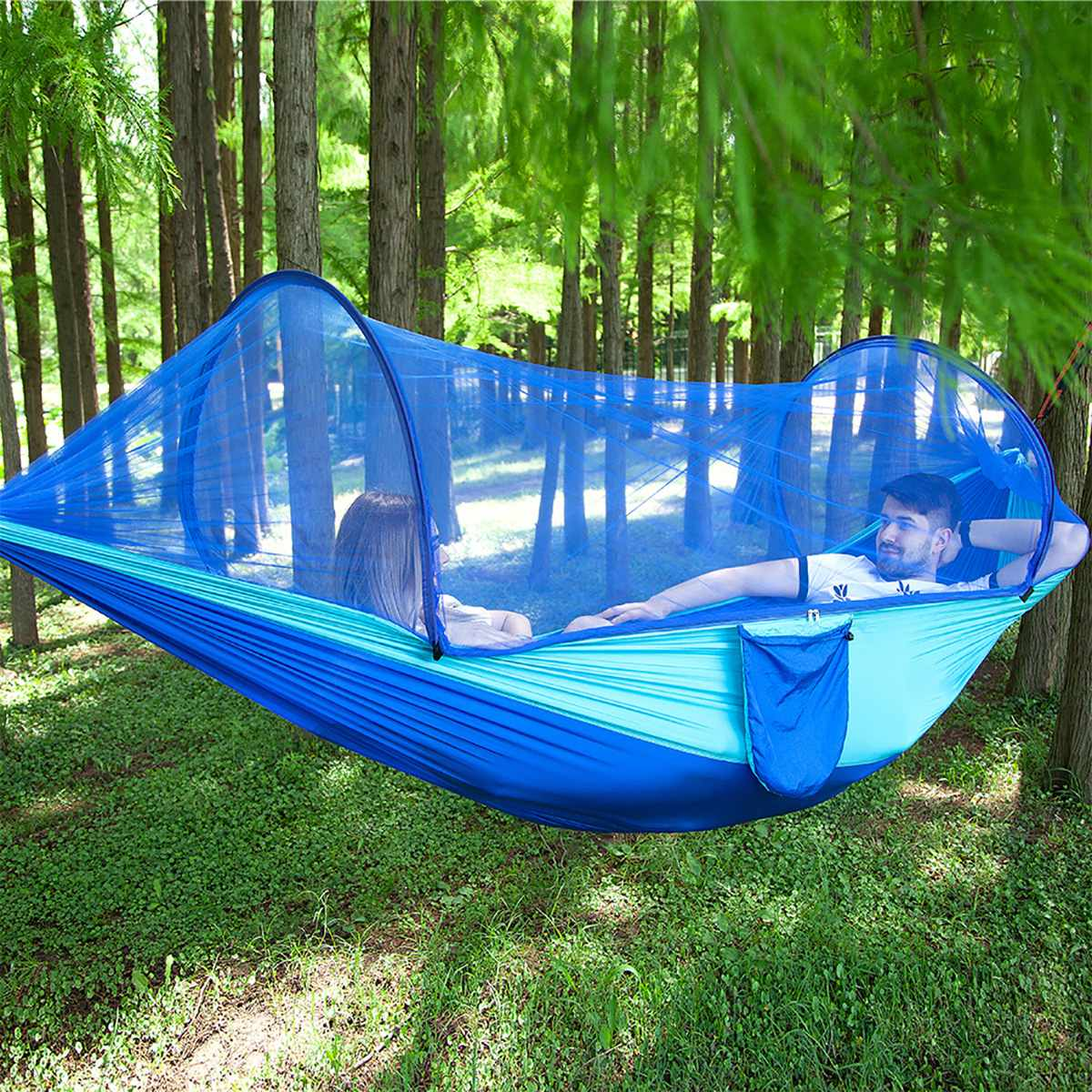 1-2 Person Hammock Outdoor Hammock With Mosquito Net Quick Release Camping Tent Hanging Swing Bed Sleeping Bed Tent Double Chair