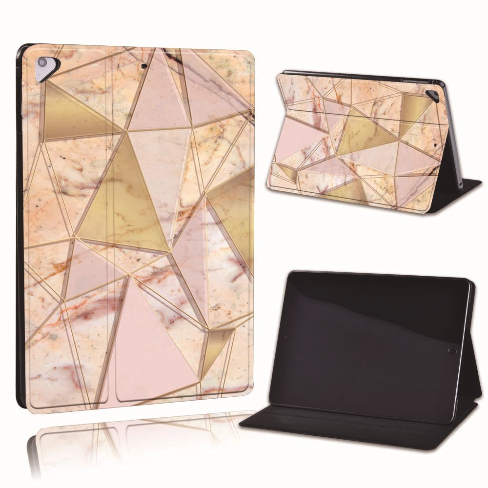 9.pink gold triangle Beige For Apple iPad 8 10 2 2020 8th 8 Generation A2428 A2429 PU Leather Tablet Stand