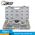 XCAN 60pcs Metric Toccare e Die Set Strumenti di Mano Toccando Tap Die Set di Chiavi per il Metallo di Perforazione Vite Filo tap Drill