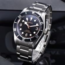Corgeut Mechanical Watch Miyota luminous Schwarz Bay Men Automatic Sport Swim Cl