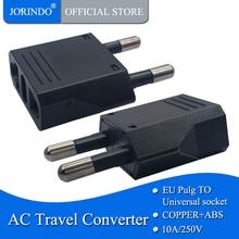 Jorindo Eu Naar Ons, adapter Amerikaanse Japan Ons Eu Duitsland Euro Travel Adapter Stekker Outlet Ac Stopcontacten, 4.8Mm Voet.