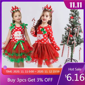 Fancy New Year Baby Girl Carnival Santa Dress For Girls Summer Mouse Christmas Children Clothing Party Tulle Kids Costume