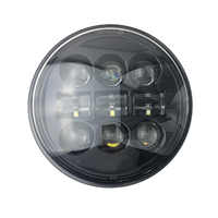 Motorcycle 5-3/4 5.75 LED Headlight for Harley 883,sportster,triple,low rider,wide glide Headlamp Driving Light