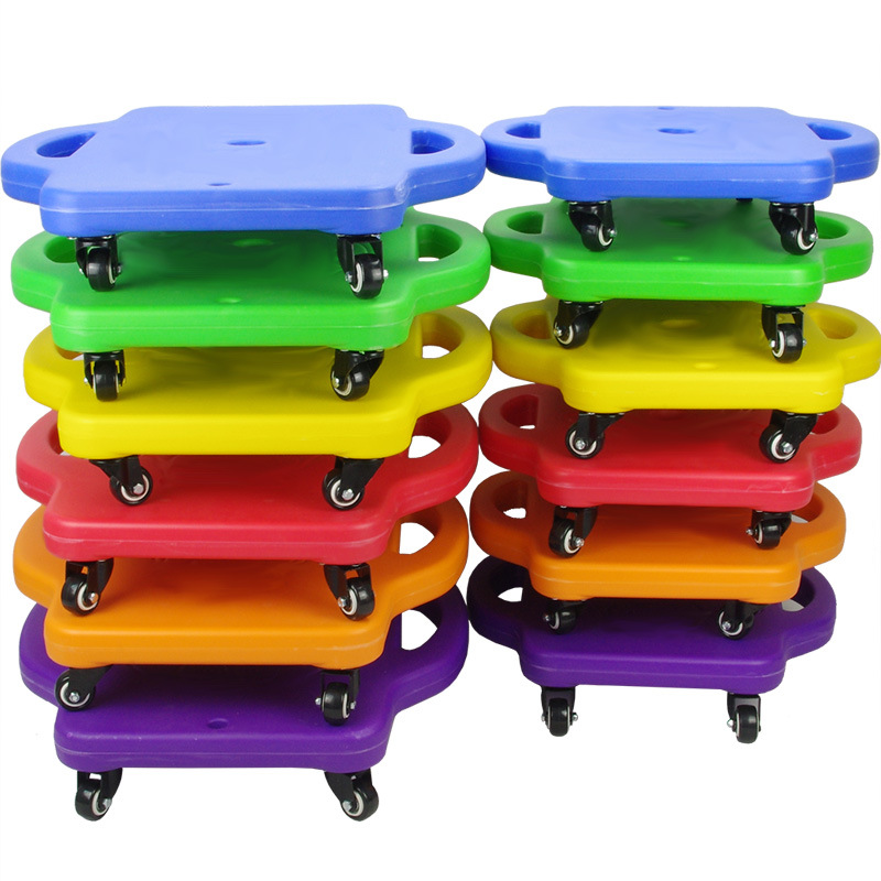 Children Sensory Training Equipment Kindergarten Early Childhood Balance Plastic Thick Small Sensory Integration Scooter Parent