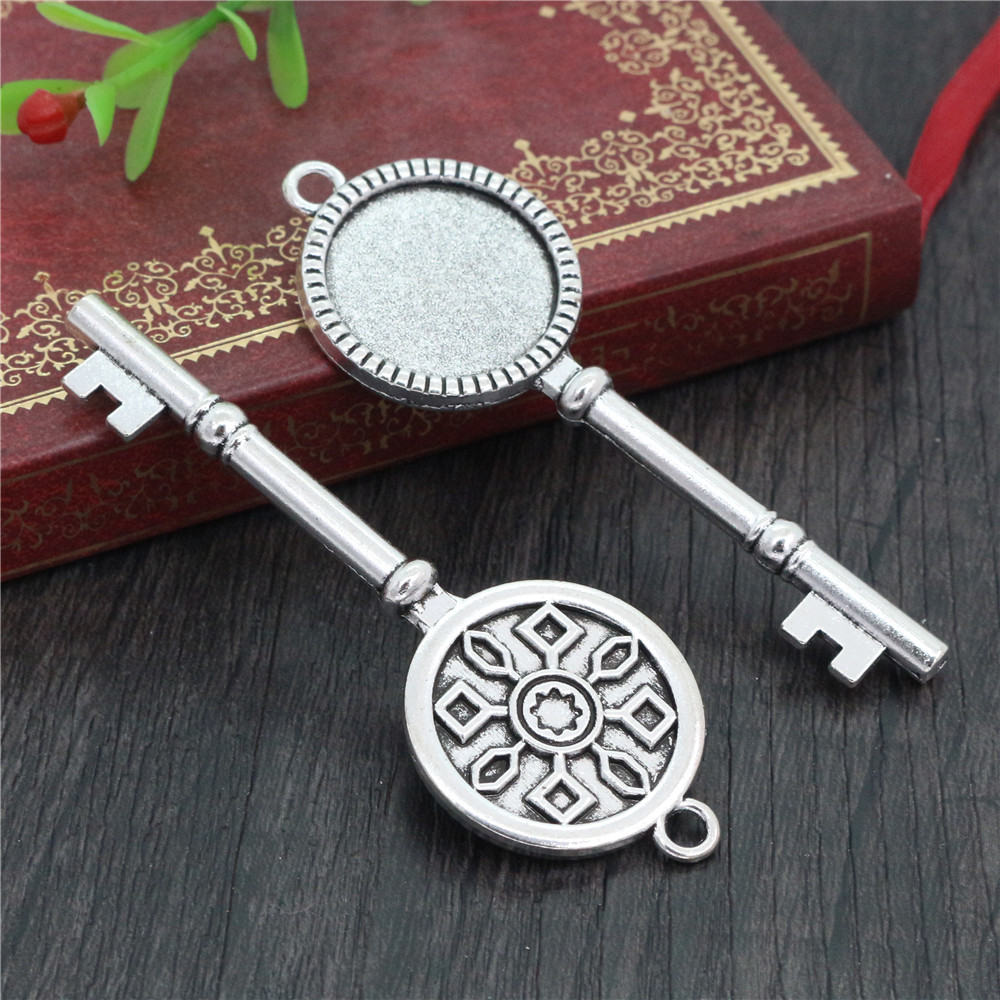 5pcs 20mm Inner Size Antique Silver Plated Classic Style Cabochon Base Setting Charms Pendant (D2-11)