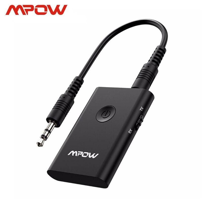 Mpow BH283 Drahtlose Empfänger & Sender 2 in 1 Adapter Bluetooth Mit APTX Für Auto Stereo Musik System/TV /kopfhörer/Lautsprecher