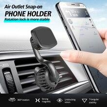 حامل تثبيت للسيارات حامل هاتف السيارة مع متعددة الوظائف 360 درجة الدورية منفذ الهواء المغناطيسي مشبك نوع حامل هاتف السيارة s تقف