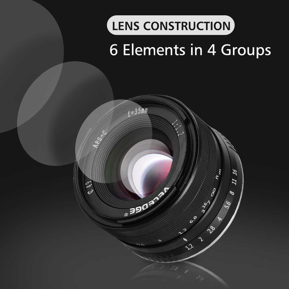 VELEDGE 35 мм F/1,2 MF ручная фокусировка объектива Высокое разрешение Большая диафрагма стандартная камера Prime объектив для Fujifilm X-Mount camera s