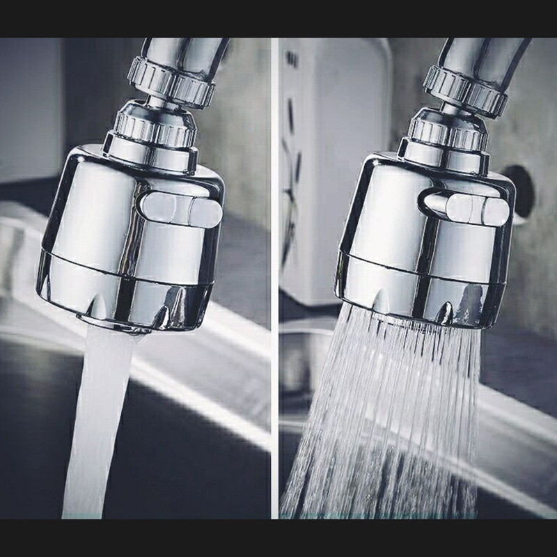 Adapter Faucet Second Gear Rotatable Faucet Splash Water Bubbler Adapter Faucet Extender Bathroom Kitchen Accessories