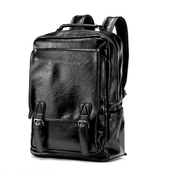 USB Charge Leather Laptop Backpack For Travel Or School