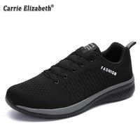 Zapatos casuales de marca para Hombre zapatillas de deporte suaves transpirables de alta calidad de malla de verano de tela voladora Zapatos casuales para Hombre