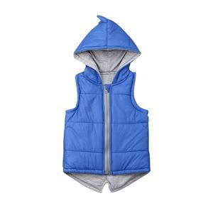 Жилетка с динозавром для маленьких мальчиков и девочек, куртка на молнии с капюшоном, зимняя теплая верхняя одежда, От 0 до 5 лет, 2019