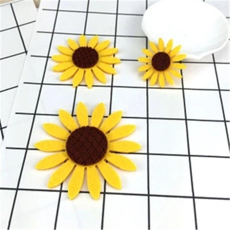 Nova 20 pcs Artificial Girassol Cabeça Decorativo crisântemo de alta qualidade Presente de casamento decorações do partido DIY Flor Colagem