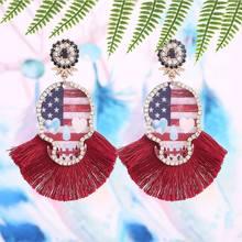 Bohemian Colorful Resin Oorbellen Voor Vrouwen Skeleton Tassel Pendant Earrings Ladies Fashion Party Jewelry Gifts