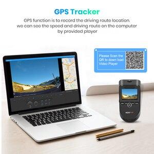 Image 4 - Junsun S590.P 24h park monitörü 4K WiFi GPS araba dvr Dash kamera 2160P gece görüş çift Lens araç kaydedici 1080P arka kamera