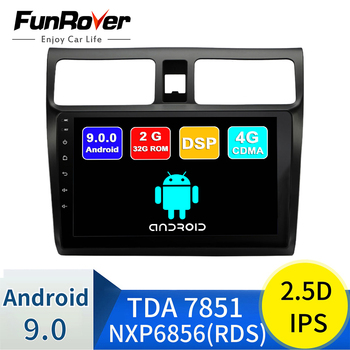 FUNROVER 2.5D+IPS android 9.0 car dvd multimedia player For Suzuki Swift 2005-2018 radio gps navigation stereos autoradio RDS BT