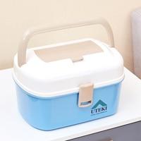 Casa pequeno kit de primeiros socorros kit doméstico multi-camada grande mão armário caixa de armazenamento de plástico