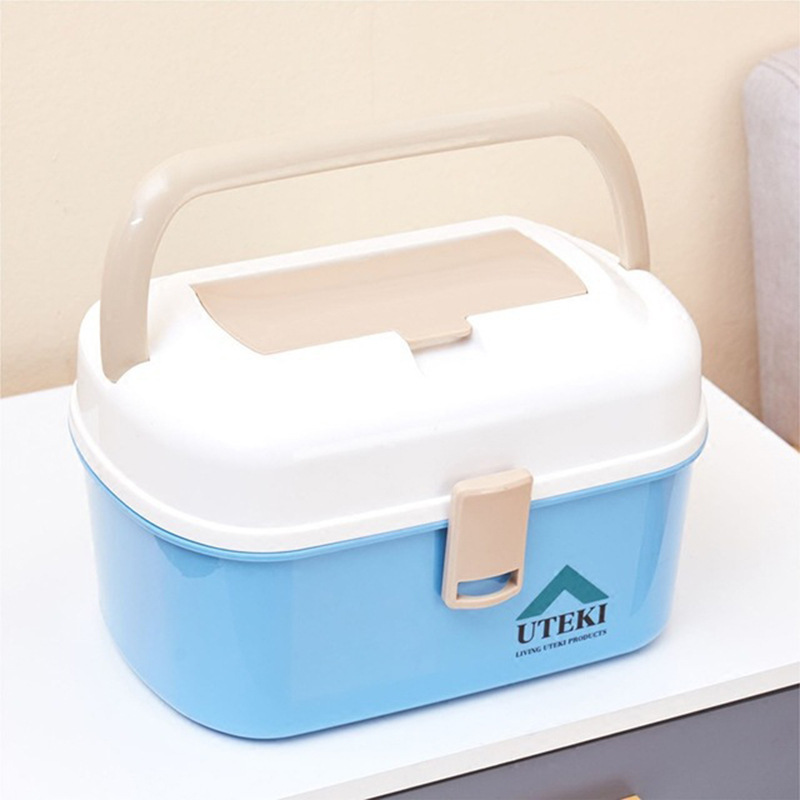 Home Children's Small Medical Kit First Aid Kit Household Multi-Layer Large Hand Medicine Cabinet Plastic Medicine Storage Box