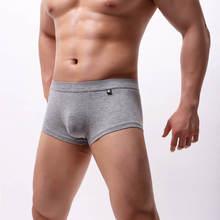 Men's Underwear Boxers Soft Modal Boxershorts Males Solid Cuecas Breathable Mens U Convex Pouch Underpants Trunks Bottoms M-XL